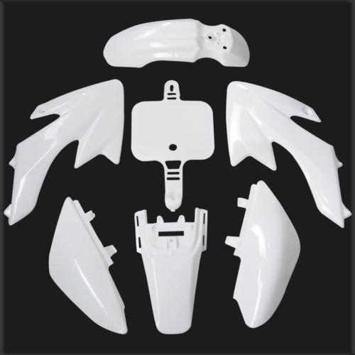 Lumix GC White Plastic Body Fairing Kit Fender Panels For 50cc Honda CRF50 XR50 Dirt Pit Bikes