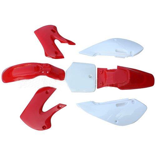 Plastic Body Fairing Kit KAWASAKI KLX DRZ 110 KX65 Pit Bike Dirt Bike Red
