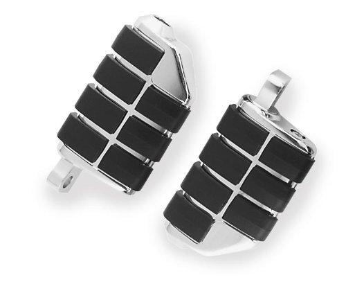 Kuryakyn Male Mount Iso Footpegs - Dually/black/chrome