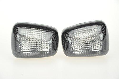 Topzone Lighting Smoked Motorcycle Indicators Turn Signal Lens For Suzuki 96-99 Gsxr600750 97-04 Tl1000 99-04 Sv650 99-07 Gsxr1300 98-04 Katana