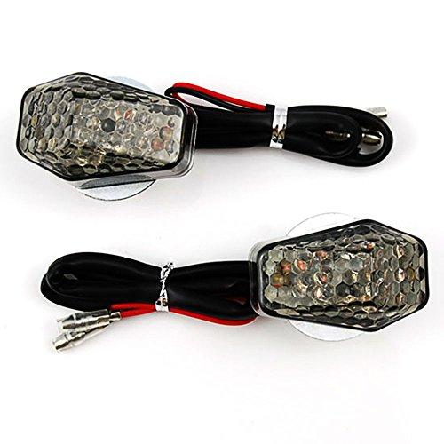 Astra Depot Flush Mount Turn Signals Smoke Lens Amber LED Light For Suzuki B-King GSR600 GSF1250S Bandit GSF1200 Bandit GSX1400 GSX1100G GSF400 GS500 FXR150 Hayabusa GSX1300R GSX 1300R