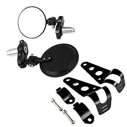 Convex 78 Handlebar Bar End Side Mirrors  Headlamp Mounting Bracket Combo