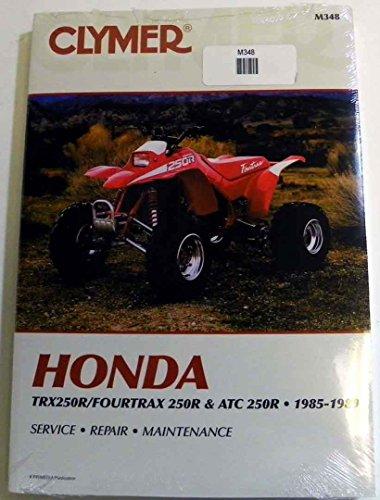 ATVMoto-X Honda Clymer Manual Models TRX 250RFourtrax 250R and ATC 250R 1985-1989 WSM M348