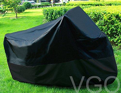 Motorcycle Cover For Harley Davidson HD FLHT UV Dust Prevention XXL Black