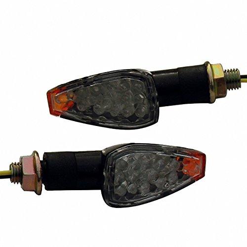 2 x Black LED Turn Signal Indicators Blinker Amer Lights For 2004 Suzuki DRZ400