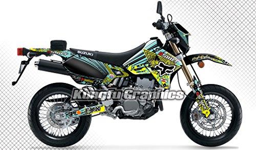 Kungfu Graphics Custom Decal Kit for Suzuki DRZ400 SM 1999 up to 2018 Yellow Black Green