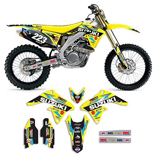 2010-2017 SUZUKI RMZ 250 Team JTech Motocross Graphics Kit Motocross Decal
