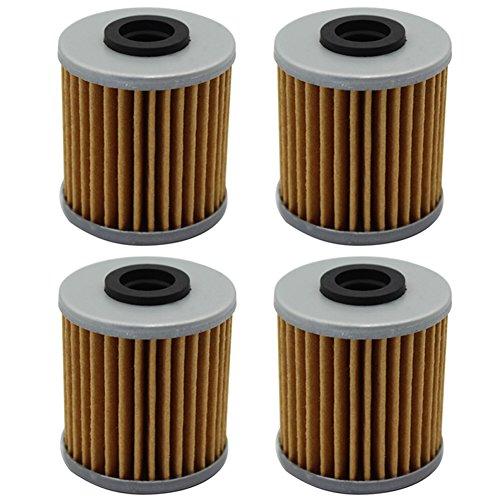Cyleto Oil Filter for SUZUKI 250 400 RMZ 250 RM-Z250 2004-2015  RMZ 450 2005-2015 Pack of 4