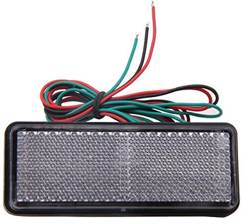 1 PC Clear Retangle Reflector LED Rear Tail Brake Stop Lights for 2009 Suzuki Burgman 650 AN650A ABS Executive