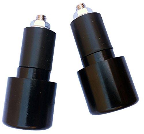 Black 78 CNC Aluminum Handlebar End Weights Caps Plugs Sliders for 2005 Suzuki Burgman 650