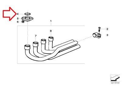 BMW Genuine Exhaust System Pipe Gasket Ring C32X40 for K1 K100RS K1100LT K1100RS K1200LT K1200RS K1200GT K1200RS K75 K75C K75RT K75S K100 K100LT K100RS K100RT