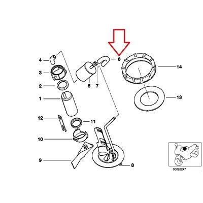 BMW Genuine Fuel Pump Filter Hose R1100GS R1100R R850 R1100RS R1100S R1100RT R1200C R1200 Montauk Independent K1200LT K1200RS R1200CL K1200GT K1200RS R1150GS R1150 Adventure R1150RS R1150RT R1150R