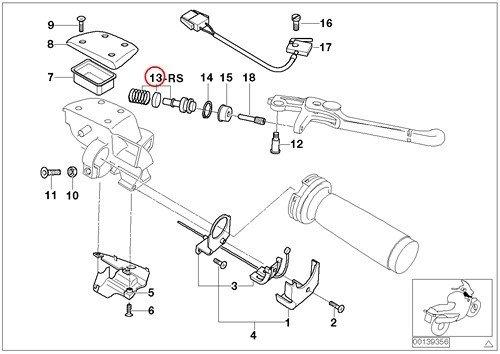 BMW Genuine Motorcycle Handbrake Lever Anodized Piston Service Kit D16MM R1100S R1200C R1200 Montauk Independent K1200LT K1200RS R1200RT R900RT R1200CL K1200GT K1200RS K1200GT R1150GS R1150