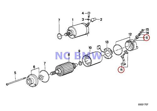 BMW Genuine Motorcycle Starter Carbon Brush Set K1 K100RS K1100LT K1100RS K1200RS K1200GT K1200RS K75 K75C K75RT K75S K100 K100LT K100RS K100RT