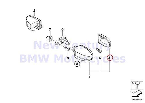 BMW Genuine Turn Indicator Rear Turn Signal Lights White Headlight Lens R1100S R1200C R1200 Montauk R1200C Independent K1200GT K1200RS R1150GS R1150 Adventure R1150R R1150R Rockster