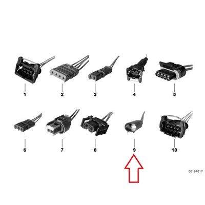 BMW Genuine Repair Cable Repair plug 2-pin R1100GS R1100R R850 R1100RS R1100S R1100RT R1200C R1200 Montauk R1200C Independent K1100LT K1100RS K1200LT K1200RS F650CS C600 Sport C650GT R1200GS R1200GS Adventure HP2 Enduro HP2 Megamoto R1200RT R900RT R1200R