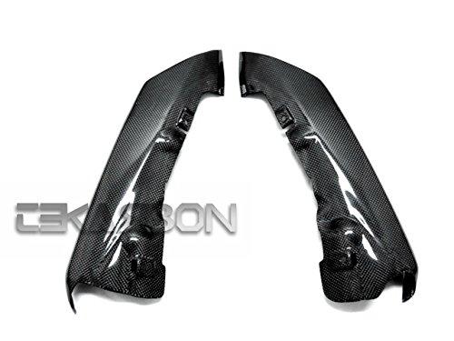 2007 - 2008 Kawasaki ZX6R Carbon Fiber Exhaust Covers 2 pcs