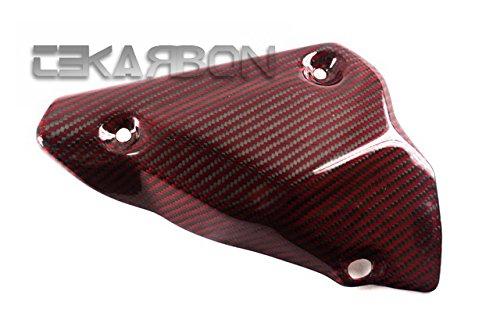 2007 - 2012 Ducati 1198 1098 848 Carbon Fiber Exhaust Cover - Red Kevlar