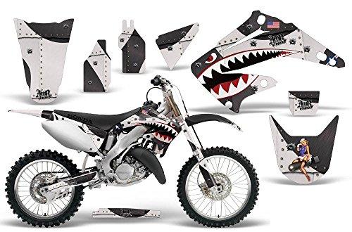 2002-2014 Honda CR 125250 AMRRACING ATV Graphics Decal Kit-Warhawk-Black