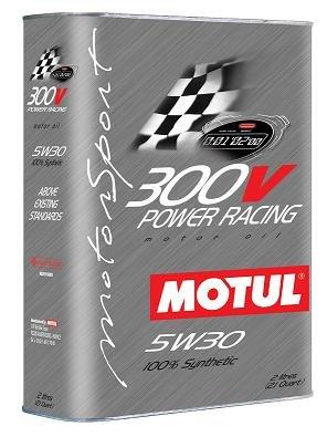 Motul 300V 5W30 POWER RACING Oil 2L 21 qt