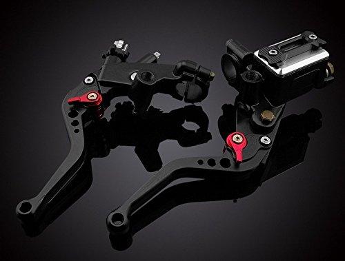 LUO Motorcycle Racing Parts CNC Billet Adjustable Reservoir Brake Master Cylinder Clutch Cable Levers Kit Black 7822mm For 1991 1992 1993 1994 1995 1996 1997 1998 1999 2000 2001 2002 2003 2004 2005 2006 2007 Honda CBR600 F2 F3 F4 F4i