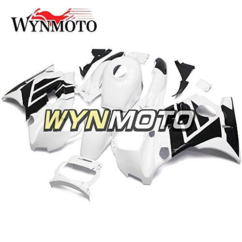 WYNMOTO Flat White Black Complete Motorcycle Body Kit For Honda CBR600 F2 1991 1992 1993 1994 ABS Plastic Sportbike Hulls