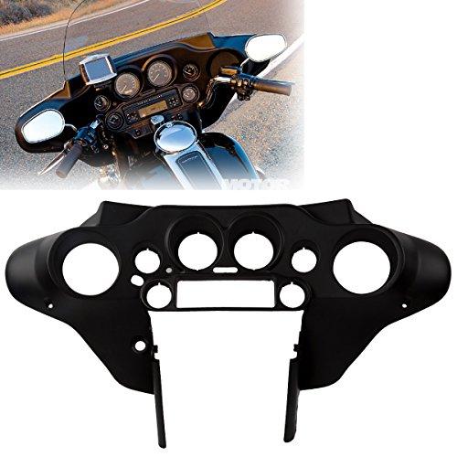 XFMT Black Motorcycles Front Inner Speedometer Cover Cowl Inner Fairing For Harley Softail Deluxe FLST Heirtage