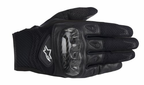 Alpinestars Smx-2 Ac Men's Leather Street Racing Motorcycle Gloves - Black / X-large