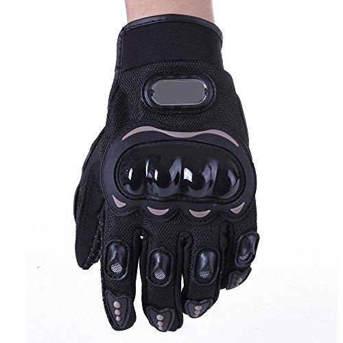 City Professional Motorcycle Motorbike Racing Carbon Fiber Black Gloves - Size M