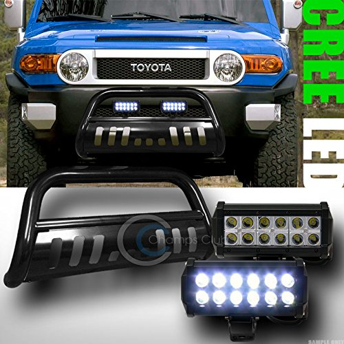 BLK BULL BAR BUMPER GRILL GUARD36W CREE LED FOG LIGHT LAMP 2007-2014 FJ CRUISER
