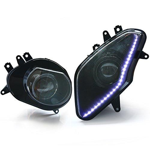 KT Headlight Assembly for BMW S1000RR 2009-2014 White LED Strip Light