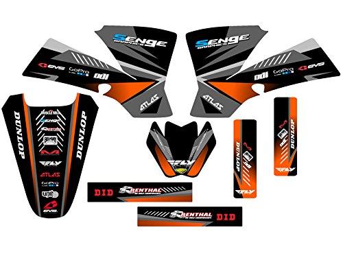 Senge Graphics 2002-2008 KTM SX 50 Surge Black Graphics Kit
