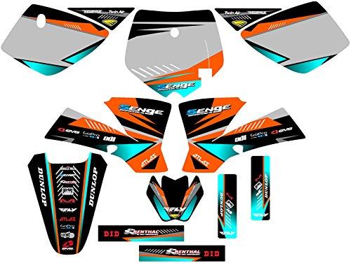 Senge Graphics 2002-2008 KTM SX 50 Surge Orange Graphics Kit