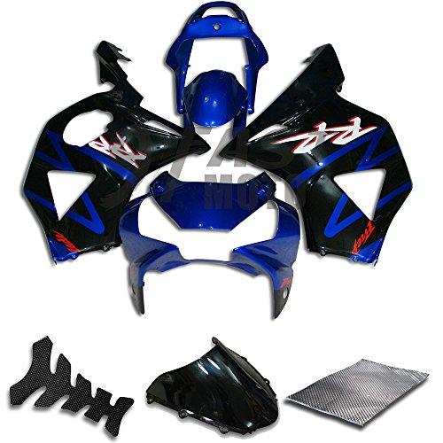 9FastMoto Fairings for honda 2002 2003 CBR900RR 954 02 03 CBR900 RR 954 Motorcycle Fairing Kit ABS Injection Set Sportbike Cowls Panels Blue Black H0607