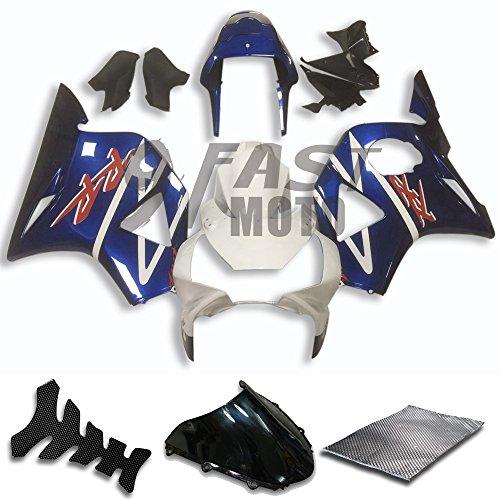 9FastMoto Fairings for honda 2002 2003 CBR900RR 954 02 03 CBR900 RR 954 Motorcycle Fairing Kit ABS Injection Set Sportbike Cowls Panels Blue White H0752