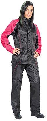Joe Rocket Rs-2 Women's 2 Piece Motorcycle Rainsuit Pink/black (xlarge)