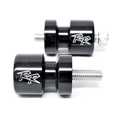 Krator Black Swingarm Spools Sliders Motorcycle Bobbins For Honda CBR600RR 2003-2011