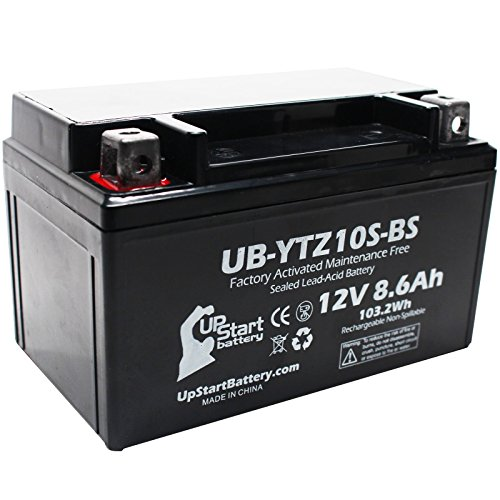 Replacement 2012 Yamaha YZF-R1 1000CC Factory Activated Maintenance Free Motorcycle Battery - 12V 86Ah UB-YTZ10S-BS