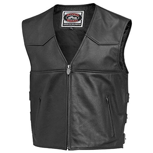 River Road Plains Leather Vest - 46Black
