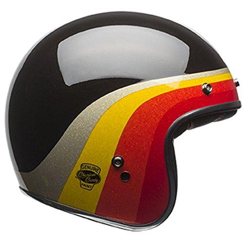 Bell Chemical Candy Adult Custom 500 Cruiser Motorcycle Helmet - BlackGold  Medium