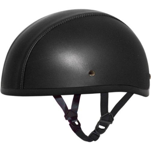 Daytona Leather Covered without Visor DOT Approved 12 Shell Harley Cruiser Motorcycle Helmet  4X-Large