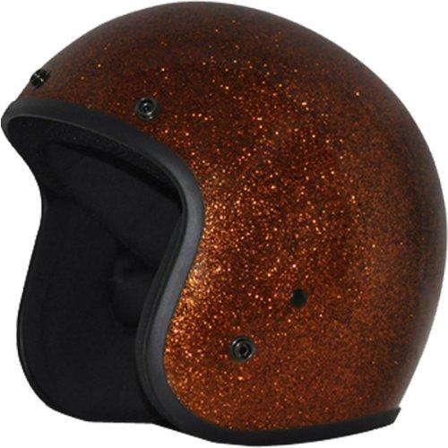 Daytona Metal Flake DOT Approved 34 Shell Cruiser Motorcycle Helmet - Root Beer  Large