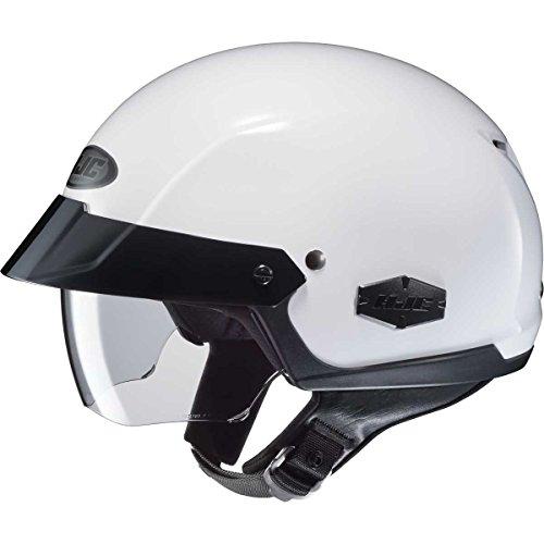 HJC Solid Adult IS-Cruiser Harley Cruiser Motorcycle Helmet - White  Large