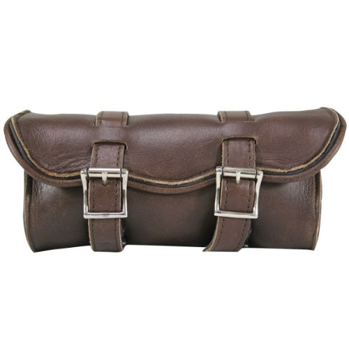 Xelement 1609 Distressed Brown Cruiser Motorcycle Tool Bag - One Size