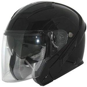 Zox Sierra SVS Adult Cruiser Motorcycle Helmet - Solid Glossy Black  4X-Large