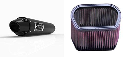 K&N Air Filter HMF Black Performance-Series Slip On Exhaust Euro-Black for Yamaha R1 1998-2001