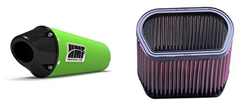 K&N Air Filter HMF Green Performance-Series Slip On Exhaust Euro-Black for Yamaha R1 1998-2001