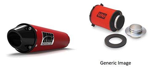 UNI Foam Air Filter HMF Red Performance-Series Slip On Exhaust Euro-Black for Yamaha R1 1998-2001