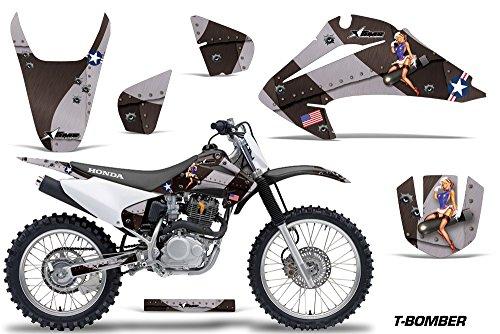 Honda CRF150 CRF230F 2003-2007 MX Dirt Bike Graphic Kit Sticker Decals CRF 125 230 F TBOMB BLACK