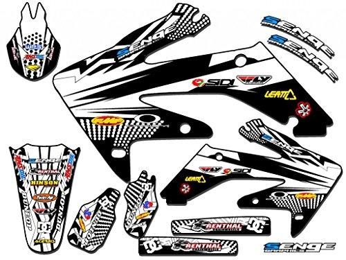 Senge Graphics 2013-2017 Honda CRF 125 Mayhem White Graphics kit